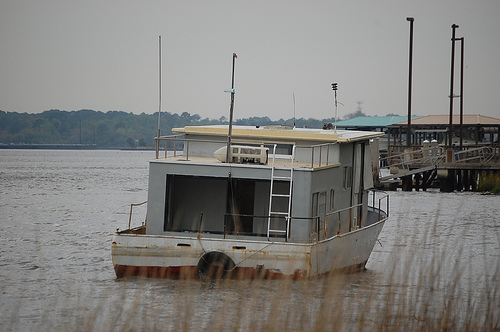 Derelict Houseboat on the St. Johns River