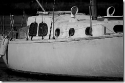 Old Boat BW